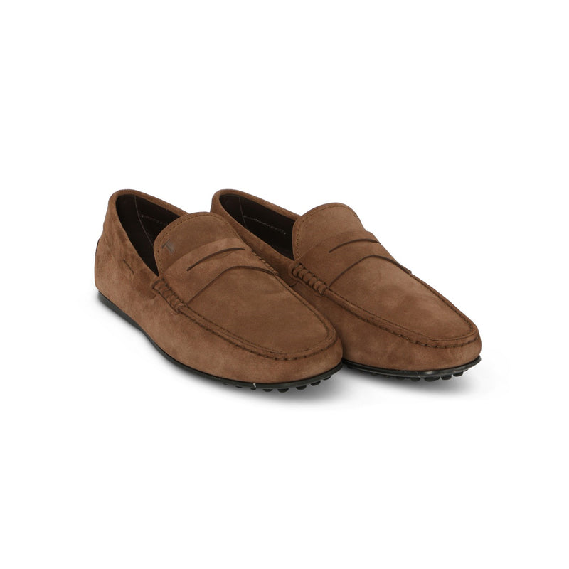 Gommini Nuovo Picot Loafers in Olive Leather