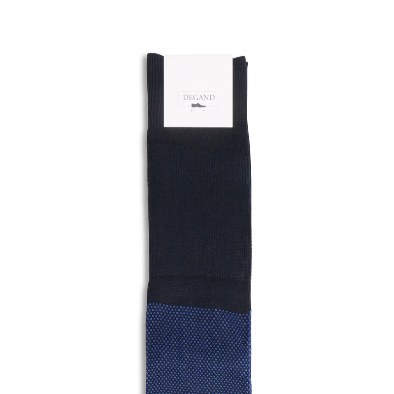Caviar Navy and Blue Cotton Long Socks
