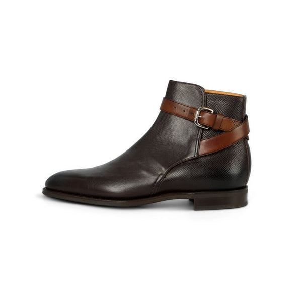 Lambourne Boots in Dark Brown Grain Calf and Dark Oak Leather