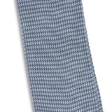 Houndstooth Petrol Blue and Grey Cotton Long Socks