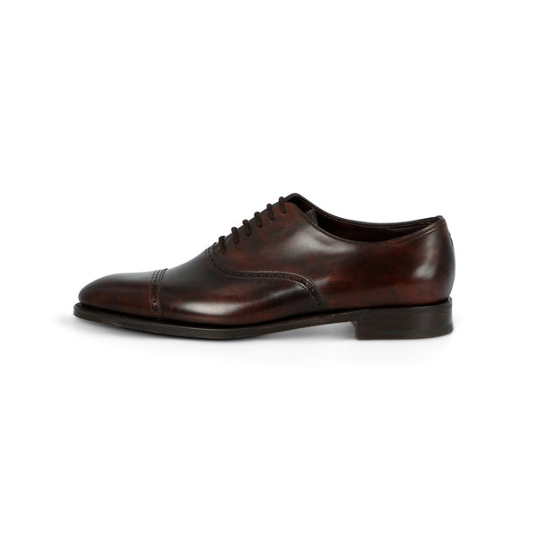 Trent Oxford in Dark Brown Museum Calf Leather
