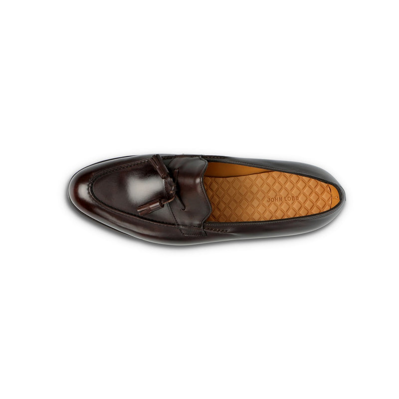 Callington Loafers with Pendants in Dark Brown Leather