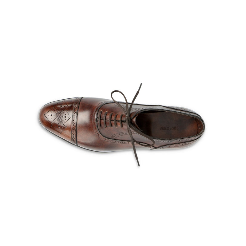 Stockley Oxford in Dark Brown Museum Calf Leather