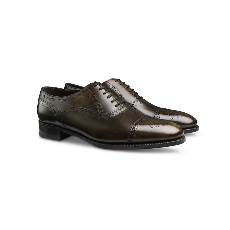 Stockley Laced Oxfords in Dark Brown Leather