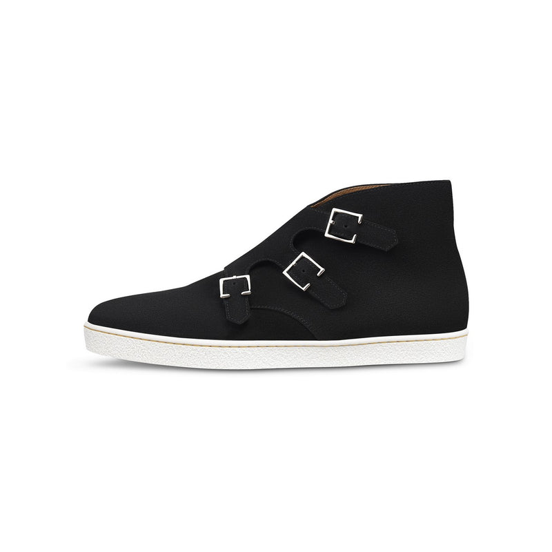 Howell Monk Sneakers in Black Suede