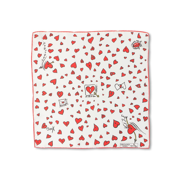 Valentine Silk Pocket Square