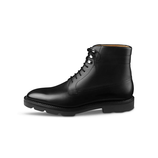 Alder Boots in Black Museum Calf Leather