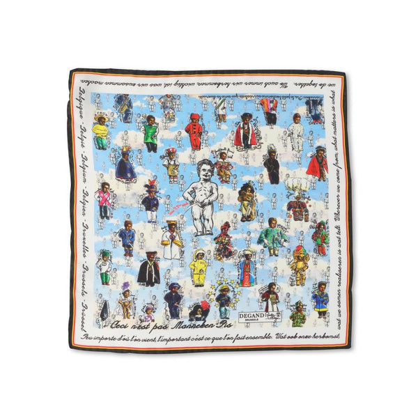 Manneken-Pis Silk Pocket Square