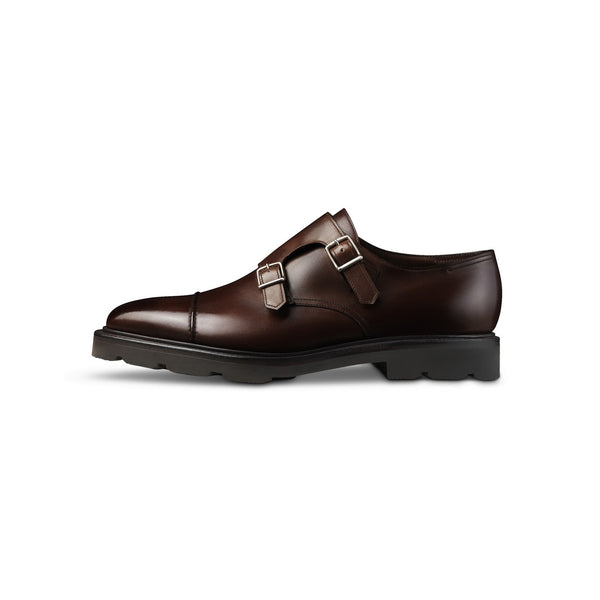 William Monks in Brown Grained Leather