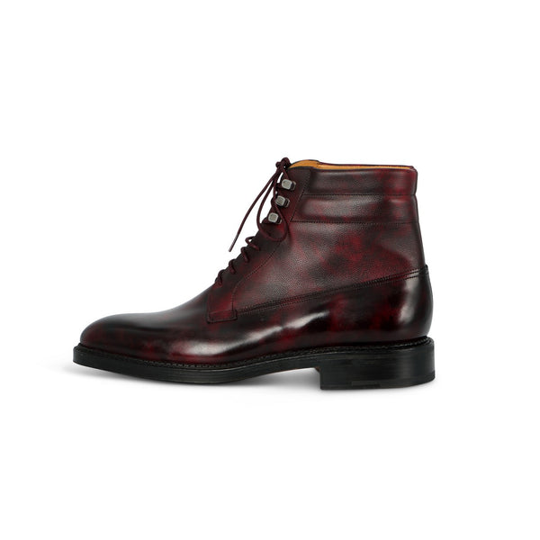 Alder Boots in Plum Leather