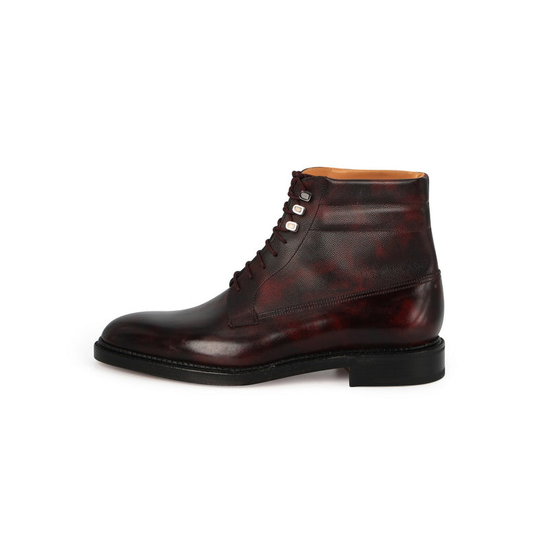 Alder Boots in Burgundy -Plum- Leather