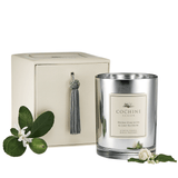 Water hyacinth and linden flowers candle