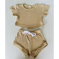 Preorder | Baby Set | Textured Two Piece | Olive