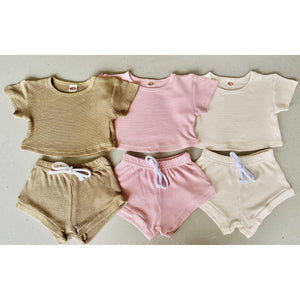 Preorder | Baby Set | Textured Two Piece | Nude
