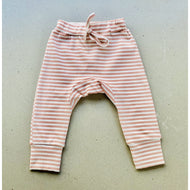 baby pants | ribbed material | pink stripe
