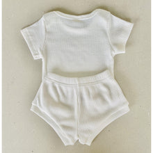 Load image into Gallery viewer, Preorder |  Baby Set | Ribbed Two Piece with Bodysuit | Milky White