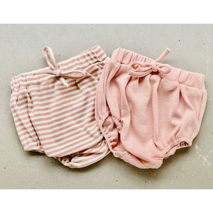 Preorder | baby shorties | ribbed | dusty pink