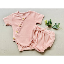 Load image into Gallery viewer, Preorder | baby shorties | ribbed | dusty pink