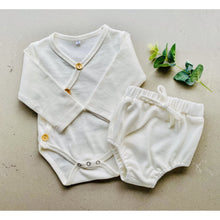 Load image into Gallery viewer, Preorder | baby shorties | ribbed | milky white
