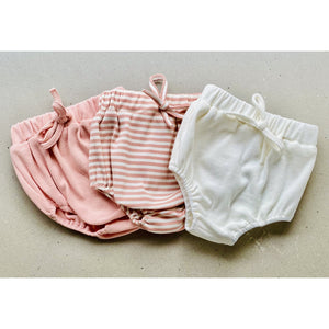 Preorder | baby shorties | ribbed | milky white