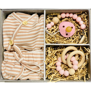 Preorder | Baby Gift Box | Dusty Pink Stripe