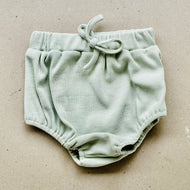 baby shorties | ribbed | sage