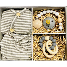 Load image into Gallery viewer, Preorder | Baby Gift Box | Grey Stripe