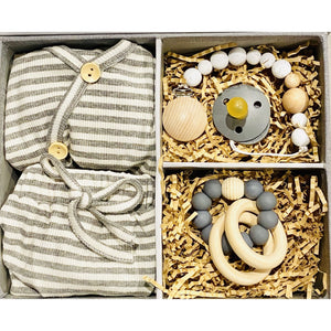 Preorder | Baby Gift Box | Grey Stripe