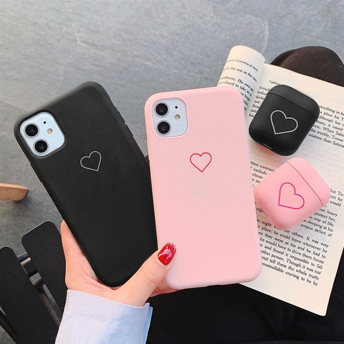 The CUTE HEART Soft Phone Case For iPhone - mokibunny