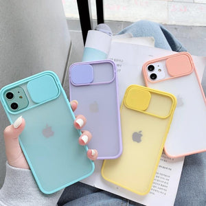 Camera Lens Protection Phone Case  For iPhone 11 Pro Max 8 7 6 6s Plus Xr XsMax X Xs SE 2020 Color Candy Soft Back Cover Gift - mokibunny