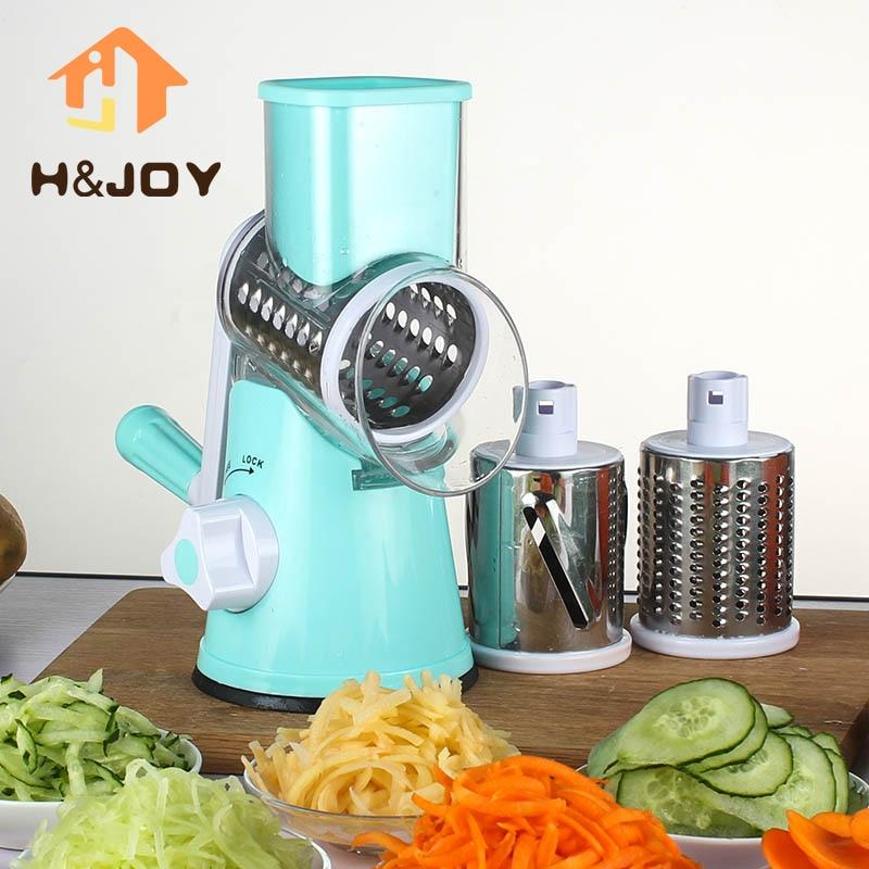 Multifunctional Manual Vegetable Spiral Slicer Chopper  Vegetable Cutter Kitchen Tools - mokibunny