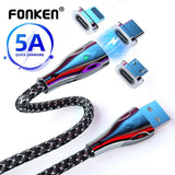 FONKEN Magnetic 5A Super Charging Cable For Android and Iphone - mokibunny