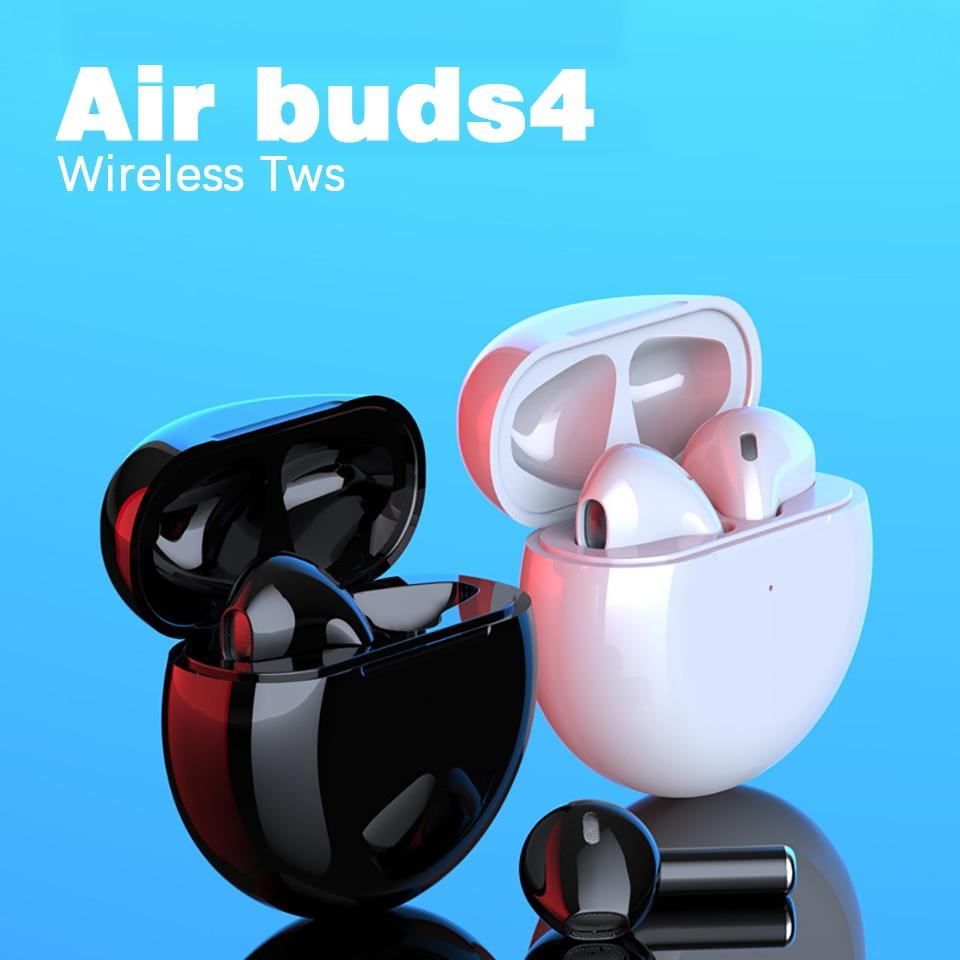 Airbuds 4 TWS Earbuds Wireless bluetooth earphones T With Charging Box - mokibunny