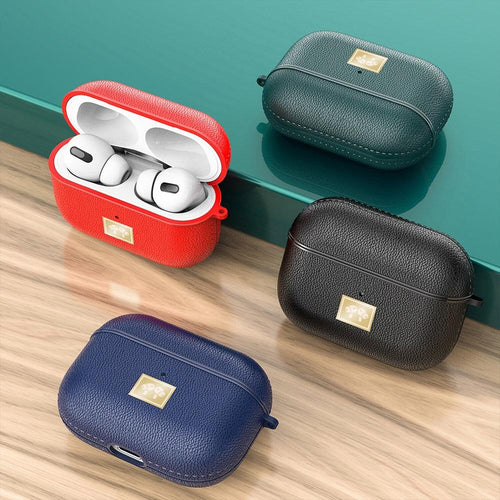 Premium Leather  Case for Apple AirPods Pro Charging Box - mokibunny