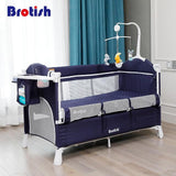 Multifunctional foldable baby crib and playing bed - mokibunny