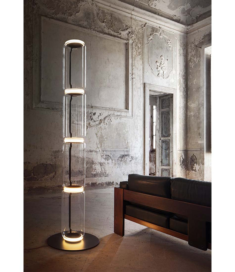 Noctambule LED Floor Lamp - Short Cylinders With Small Base