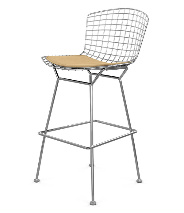 Bertoia Stool, Bar Height - Fabric Seat Pad