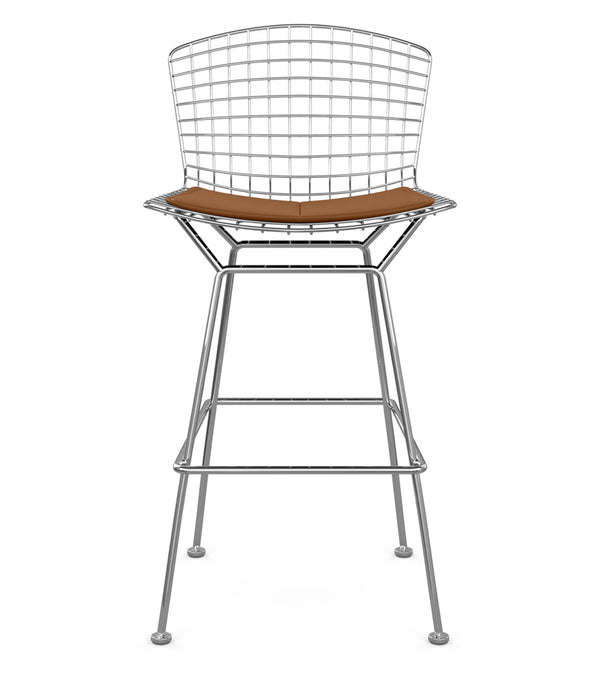 Bertoia Stool, Bar Height - Leather Seat Pad