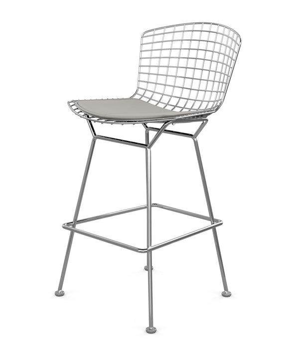 Bertoia Stool, Counter Height - Leather Seat Pad