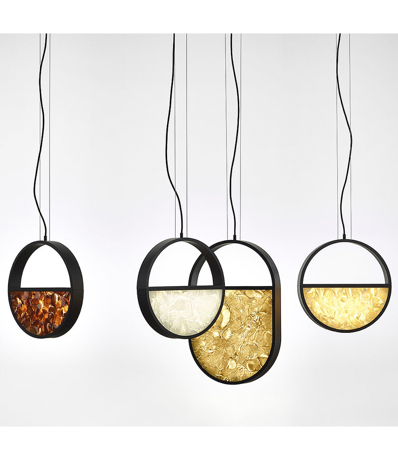 Geometric Suspension Lamp - Oval Full Top