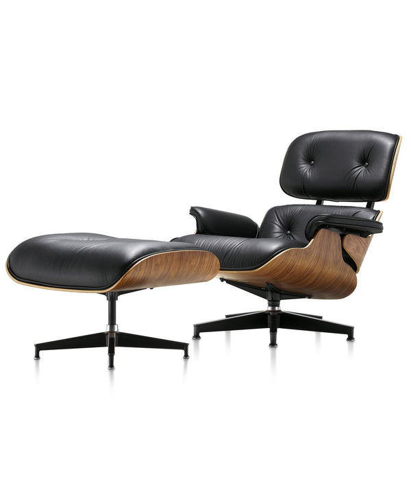Eames® Lounge Leather Chair and Ottoman - Classic Size