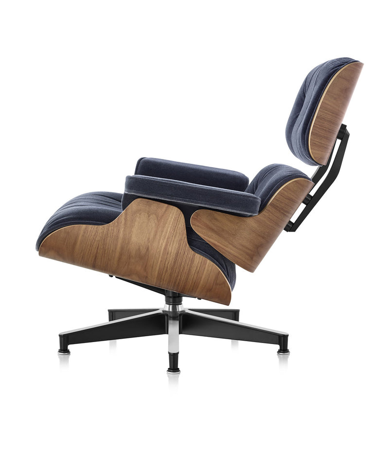 Eames Lounge Mohair Chair and Ottoman - Classic Size
