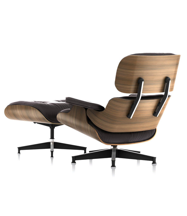 Eames® Lounge Mohair Chair and Ottoman - Classic Size