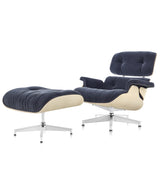 Eames Lounge Chair and Ottoman White Ash