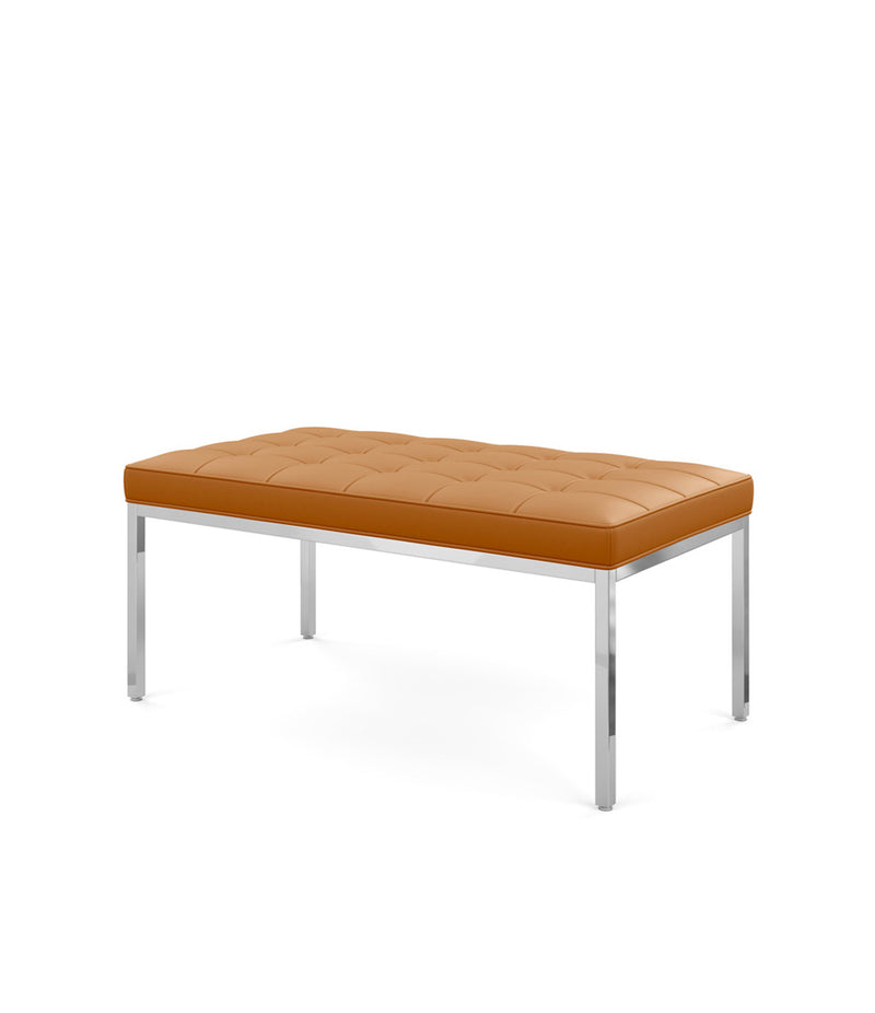 Florence Knoll Two Seat Bench - Leather