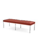 Florence Knoll Three Seat Bench - Leather