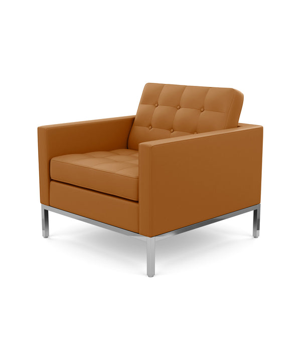 Florence Knoll Lounge Chair, Tan Volo Leather