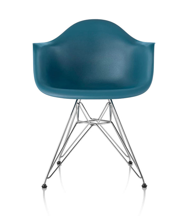 Eames Molded Plastic Armchair, Wire Base
