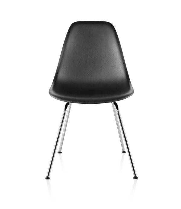 Eames Molded Plastic Side Chair, 4-Leg Base