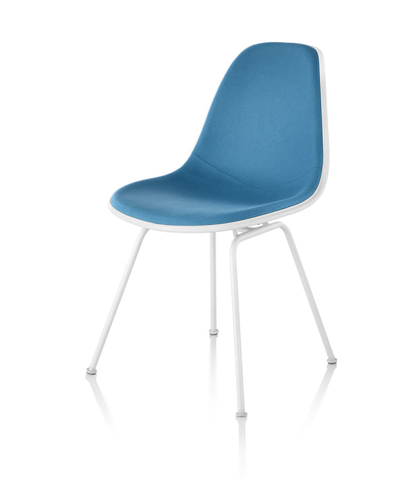Eames Molded Plastic Side Chair, 4-Leg Base - Upholstered